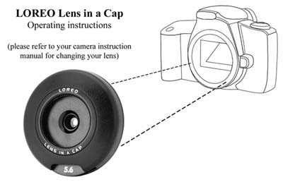Lens in a Cap with Camera